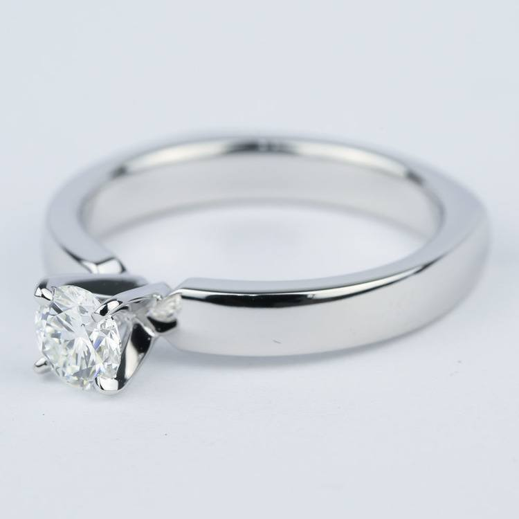 Rocker-Style Diamond Solitaire Engagement Ring (1/2 Carat) angle 3