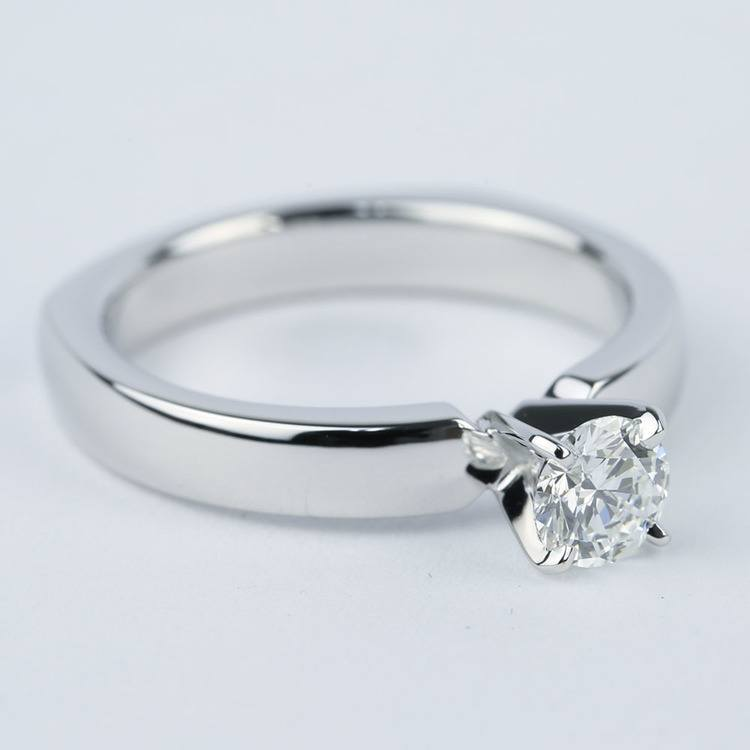 Rocker-Style Diamond Solitaire Engagement Ring (1/2 Carat) angle 2