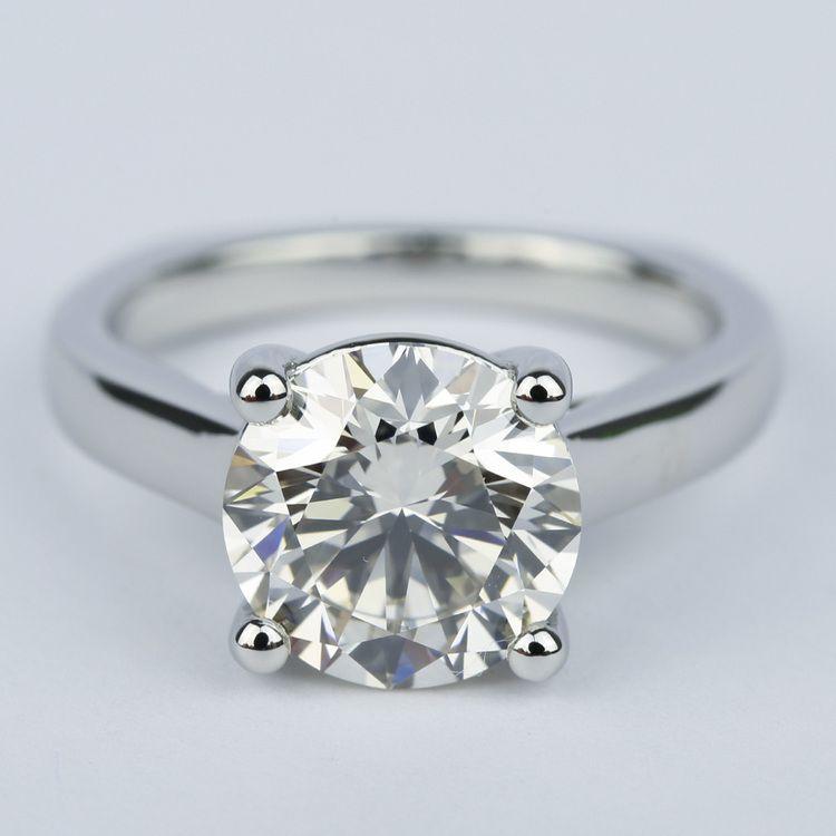Rocker Trellis Diamond Engagement Ring In Platinum 3 Carat