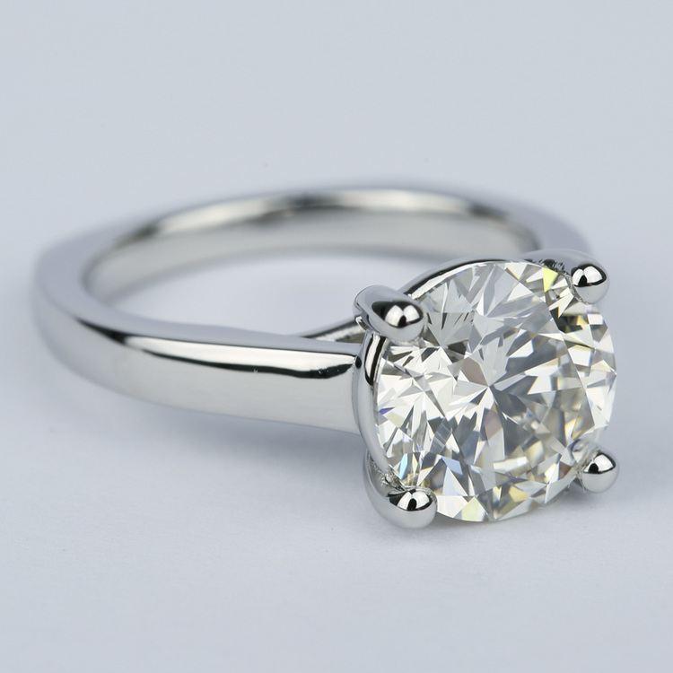 Rocker Trellis Diamond Engagement Ring in Platinum (3 Carat) angle 3