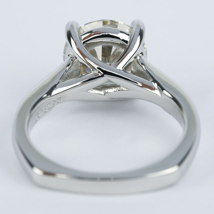 Rocker Trellis Diamond Engagement Ring in Platinum (3 Carat) angle 4