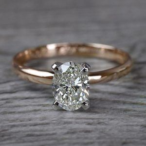 Romantic Rose Gold Oval Diamond Engagement Ring