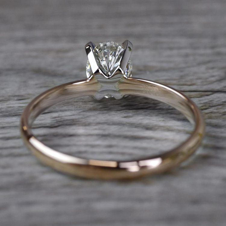 Romantic Rose Gold Oval Diamond Engagement Ring angle 4