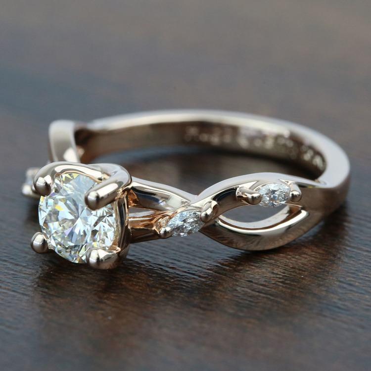Rose Gold Florida Ivy 0.75 Carat Round Diamond Engagement Ring angle 2