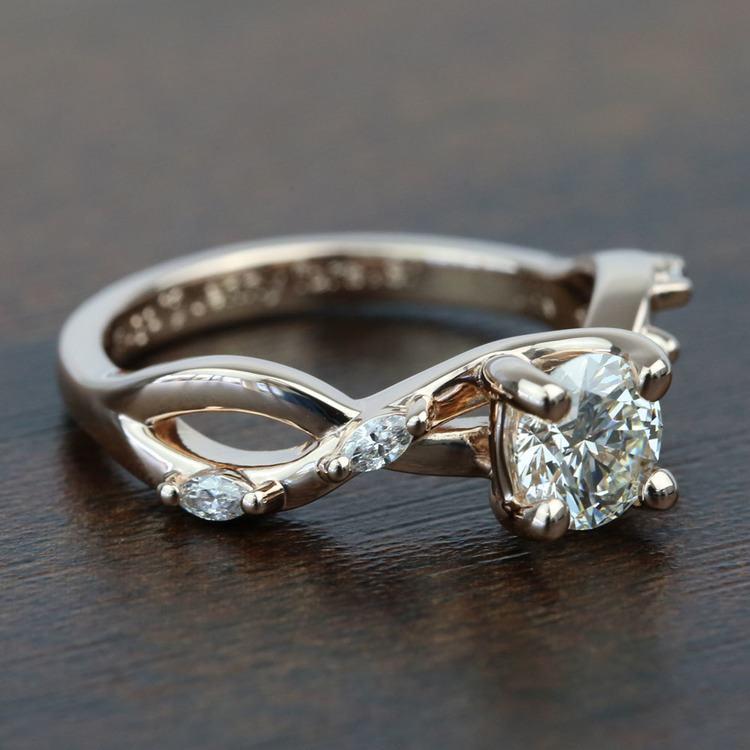 Rose Gold Florida Ivy 0.75 Carat Round Diamond Engagement Ring angle 3