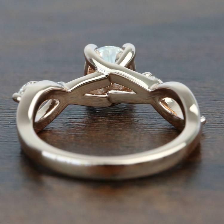 Rose Gold Florida Ivy 0.75 Carat Round Diamond Engagement Ring angle 4