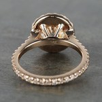 Custom Rose Gold Diamond Eternity Halo Engagement Ring - small angle 4