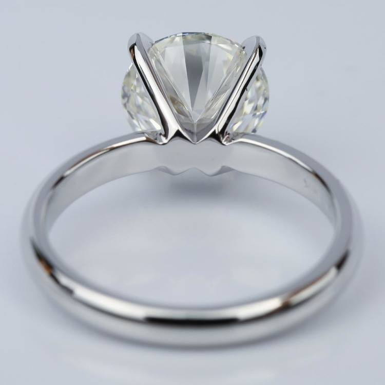Round 2.59 Carat Solitaire Diamond Engagement Ring  angle 4