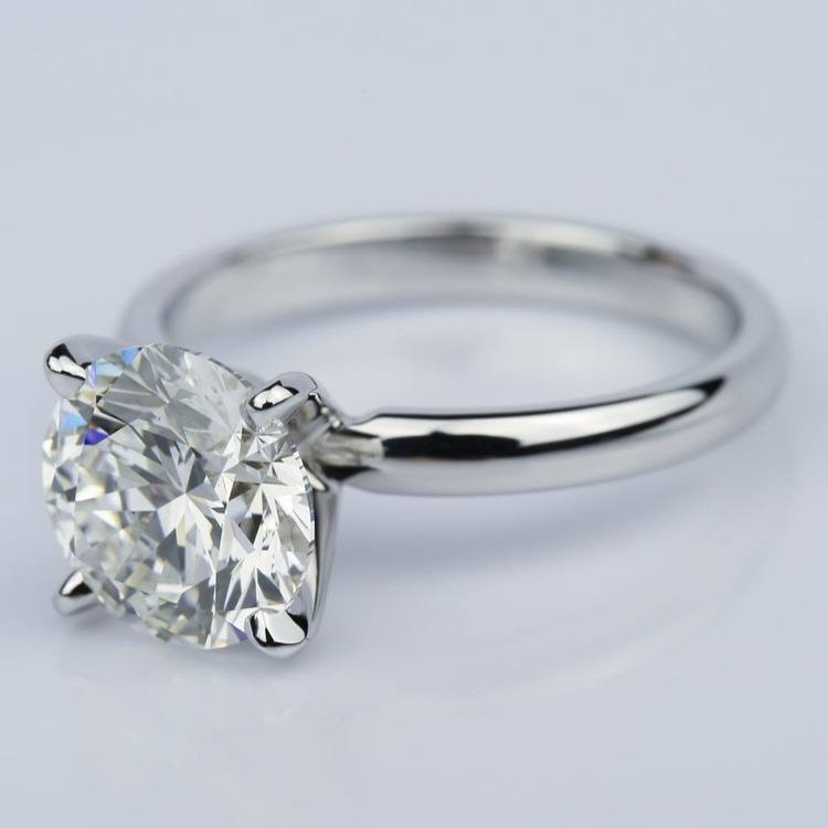 Round 2.59 Carat Solitaire Diamond Engagement Ring  angle 2