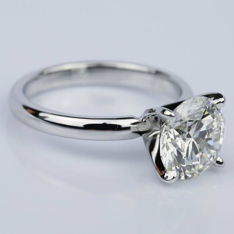 Round 2.59 Carat Solitaire Diamond Engagement Ring  angle 3