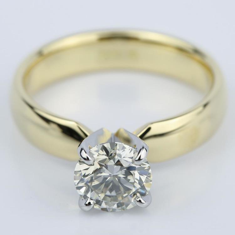 Round Brilliant Cut Diamond Engagement Ring (1.11 ct.)