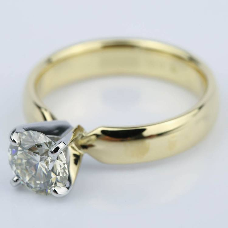Round Brilliant Cut Diamond Engagement Ring (1.11 ct.) angle 2