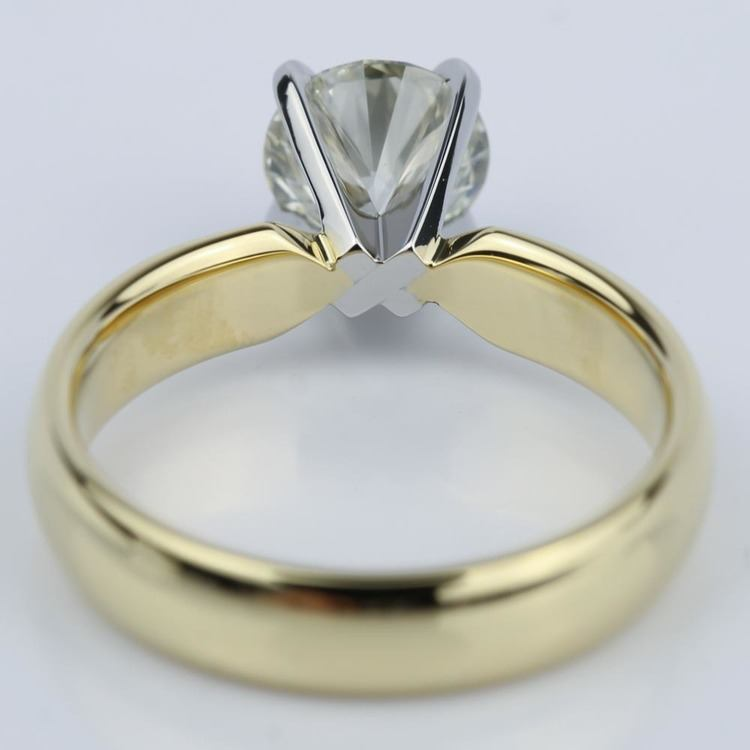 Round Brilliant Cut Diamond Engagement Ring (1.11 ct.) angle 4