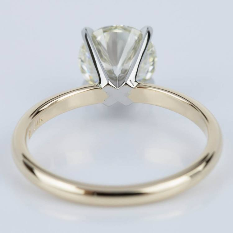 Round Brilliant Diamond Engagement Ring in Yellow Gold (1.71 ct.) angle 4
