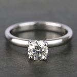 Round Classic Solitaire Diamond Engagement Ring (0.70 Carat) - small