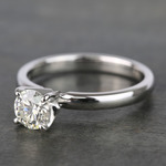 Round Classic Solitaire Diamond Engagement Ring (0.70 Carat) - small angle 2