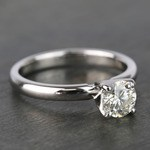 Round Classic Solitaire Diamond Engagement Ring (0.70 Carat) - small angle 3