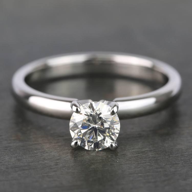 Round Classic Solitaire Diamond Engagement Ring (0.70 Carat)