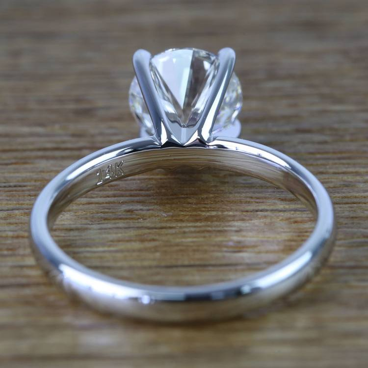 Round Classic Solitaire Diamond Engagement Ring (1 Carat) angle 4