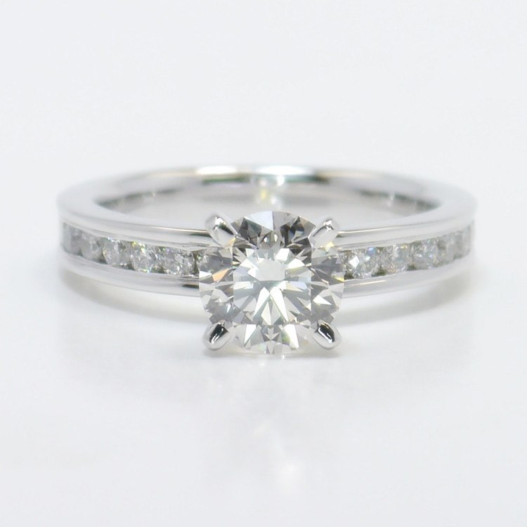 1.50 Carat Round Channel Diamond Engagement Ring