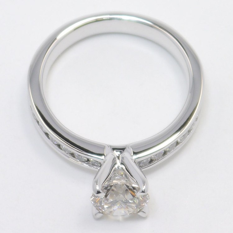 1.50 Carat Round Channel Diamond Engagement Ring angle 4
