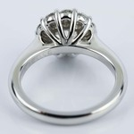 Round Cut Diamond Floral Halo Engagement Ring (0.90 ct.) - small angle 4