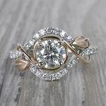 Round Diamond Cut Wrapping Vine Engagement Ring By Parade - small
