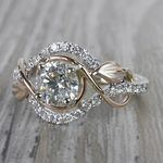 Round Diamond Cut Wrapping Vine Engagement Ring By Parade - small angle 2