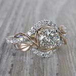 Round Diamond Cut Wrapping Vine Engagement Ring By Parade - small angle 3