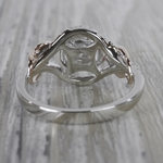 Round Diamond Cut Wrapping Vine Engagement Ring By Parade - small angle 4