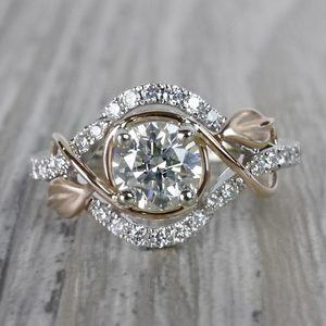 Round Diamond Cut Wrapping Vine Engagement Ring By Parade