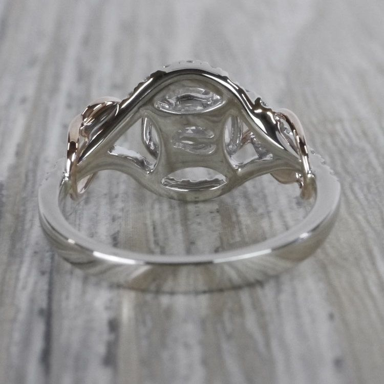 Round Diamond Cut Wrapping Vine Engagement Ring By Parade angle 4