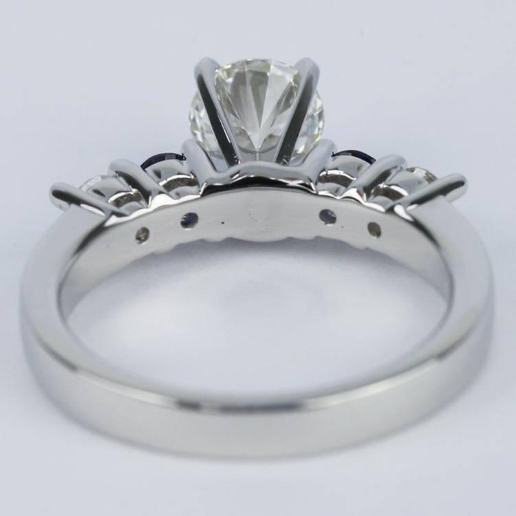 Round Diamond & Sapphire Gemstone Engagement Ring (0.90 ct.) angle 4