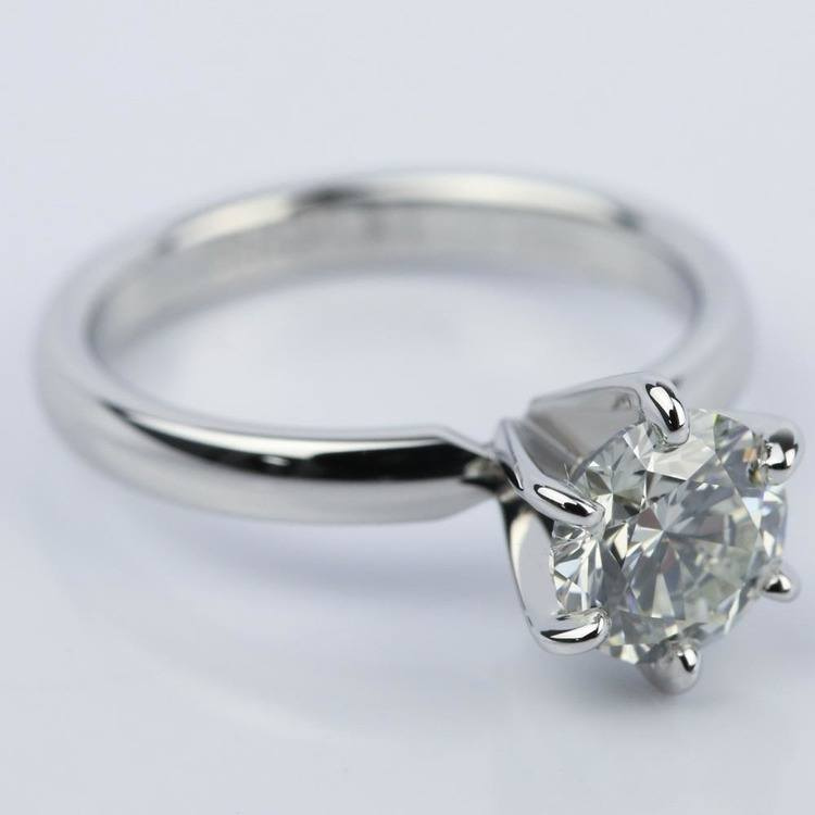 Round Diamond Solitaire Engagement Ring (1.16 ct.) angle 3