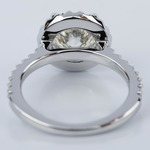 Round Ideal Cut Halo Diamond Engagement Ring (1.50 ct.) - small angle 4
