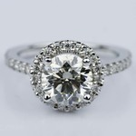 Round Ideal Cut Halo Diamond Engagement Ring (1.50 ct.) - small