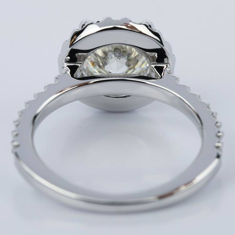 Round Ideal Cut Halo Diamond Engagement Ring (1.50 ct.) angle 4