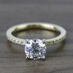 Round Petite Pave Diamond Engagement Ring (1.76 Carat) - small