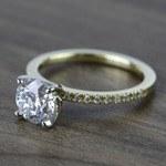 Round Petite Pave Diamond Engagement Ring (1.76 Carat) - small angle 2
