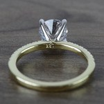 Round Petite Pave Diamond Engagement Ring (1.76 Carat) - small angle 4