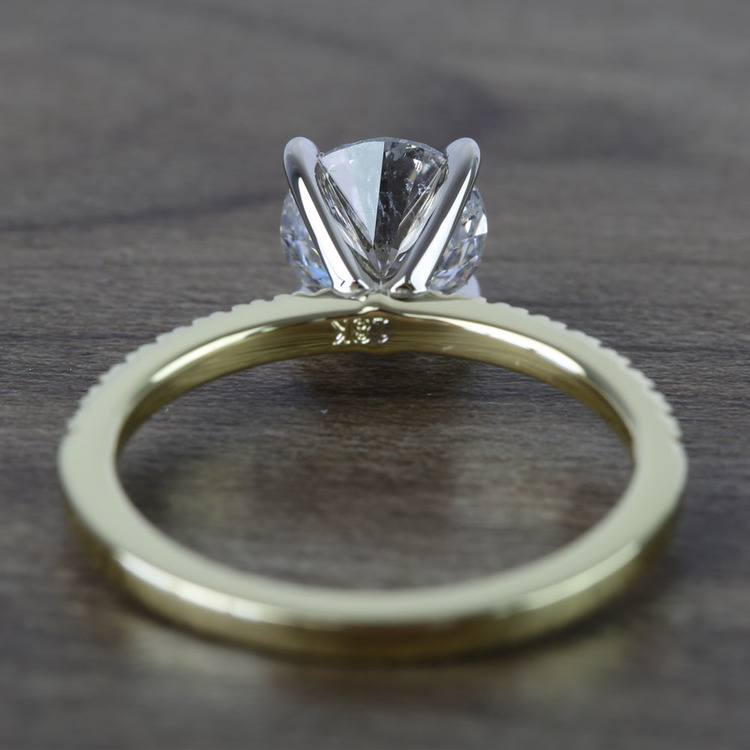 Round Petite Pave Diamond Engagement Ring (1.76 Carat) angle 4