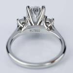 Round Trellis Three Stone Engagement Ring with Pear Center - small angle 4