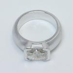 Satin Finish Half-Bezel Solitaire Ring - small angle 4