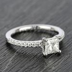 Scallop 0.63 Carat Princess Diamond Engagement Ring  - small angle 3