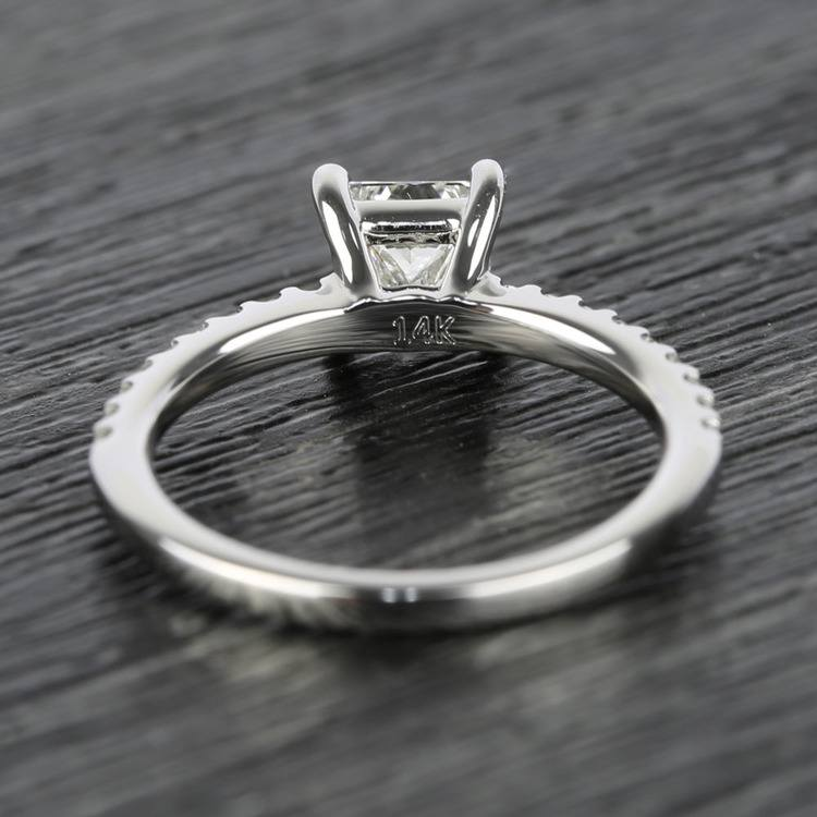 Scallop 0.63 Carat Princess Diamond Engagement Ring  angle 4
