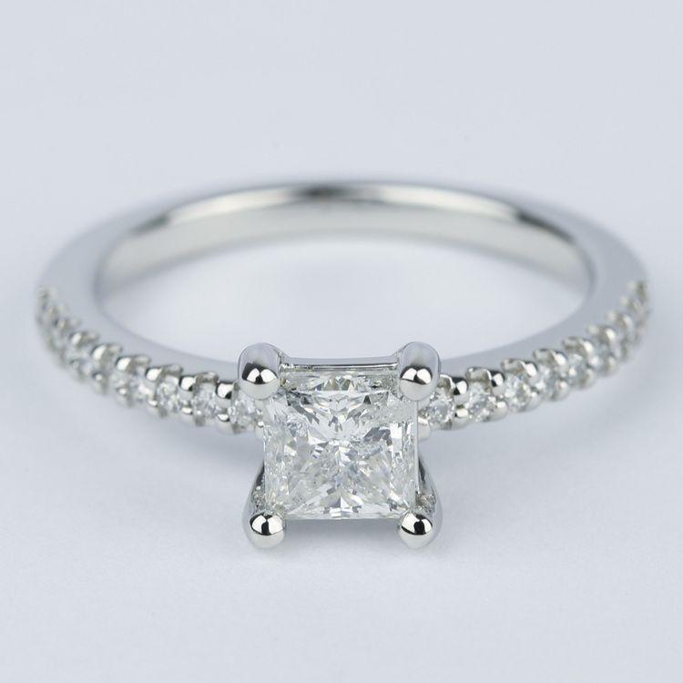 Princess Scallop Diamond Engagement Ring (0.97 ct.)