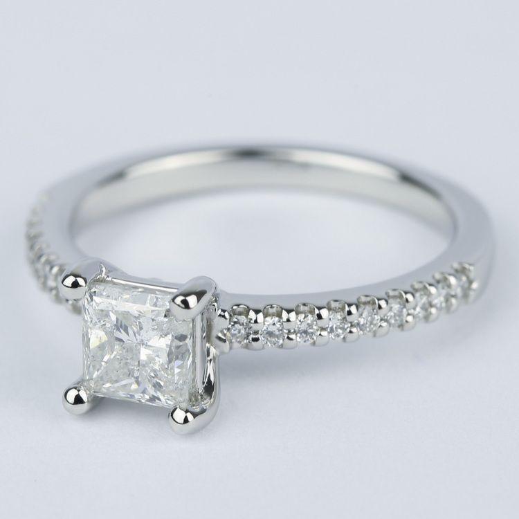 Princess Scallop Diamond Engagement Ring (0.97 ct.) angle 2