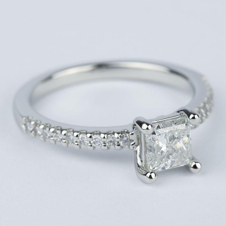 Princess Scallop Diamond Engagement Ring (0.97 ct.) angle 3