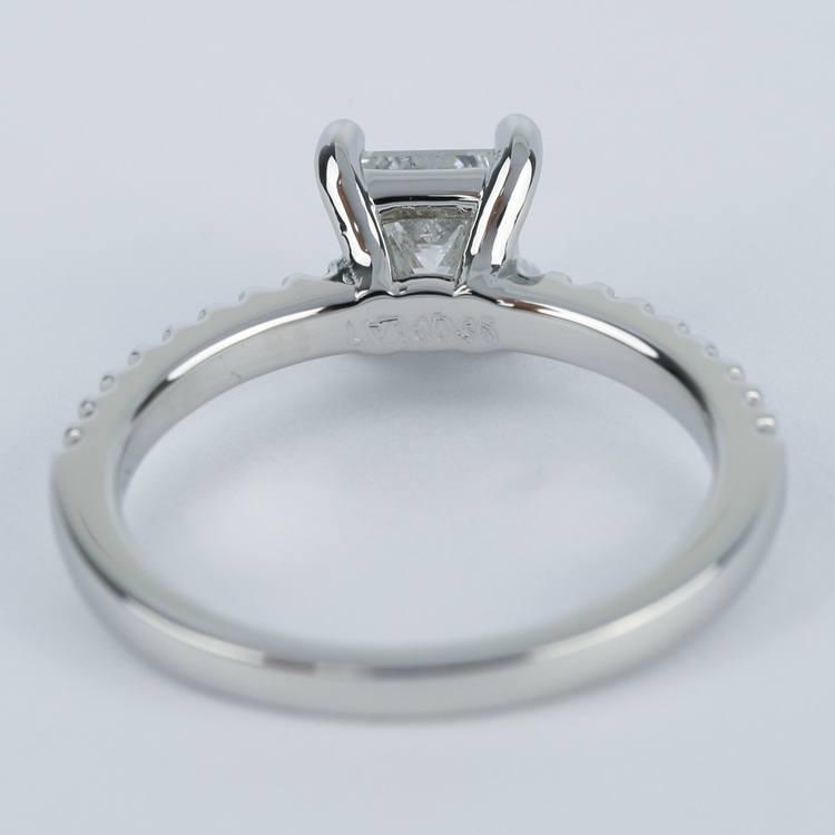 Princess Scallop Diamond Engagement Ring (0.97 ct.) angle 4