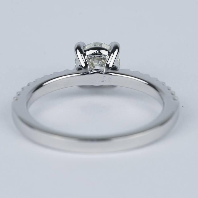 Scallop Round Cut Diamond Engagement Ring (3/4 Carat) angle 4
